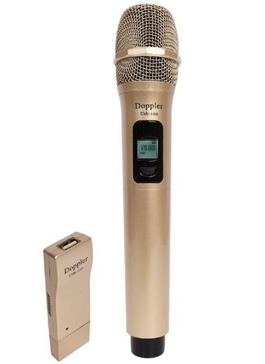 Doppler USB-100 Usb ile Çalışan Telsiz Kablosuz Mikrofon Altın Altın